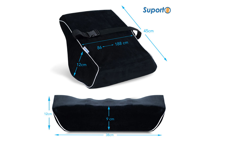 Dimensiuni suport lombar scaun auto Suporto.