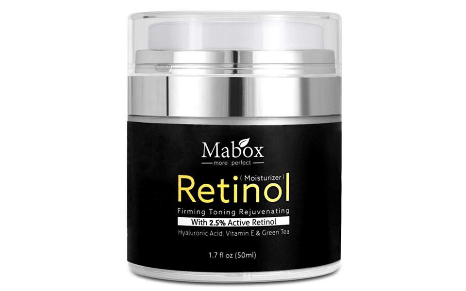 Cutie de crema de noapte Mabox Retinol.